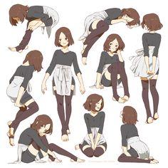 リンちゃん/青条子 figure drawing pose examples