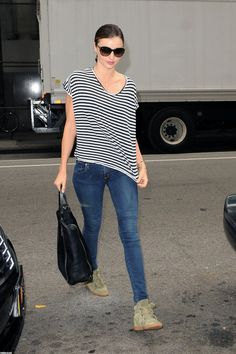 Pin for Later: Miranda Kerr Has an Outfit For Just About Everything  Dressed-down and totally cool in Isabel Marant kicks.