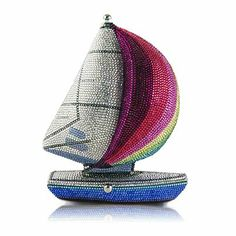 The James Sailboat Crystal Clutch from Judith Leiber on Gilt Gucci Clutch, Beaded Purses, Beaded Bags, Vintage Purses, Vintage Bag, Evening Bags, Evening Clutches, Judith Leiber, Cute Bags