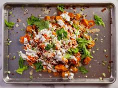 Get Buffalo Chicken Totchos Recipe from Food NetworkYou can find Buffalo chicken dinner ideas and more on our website.Get Buffalo Chicken Totchos Recipe from Food Network Ravioli, Totchos Recipe, Cooking Tips, Cooking Recipes, Cooking Quotes, Girl Cooking, Cooking Videos, Healthy Cooking, Frozen Potatoes