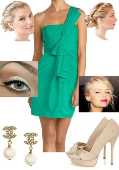 Summer Wedding Style. I have the prefect nude heels for this!  And I love BCBG
