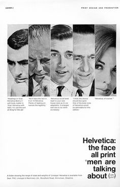 Awesome print ad for Helvetica that was published in a 1966 issue of Print Design and Production.