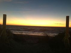 Sunset over blind-pass