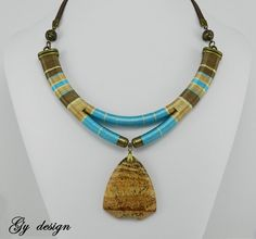 Sahara sky statement thread wrapped necklace rope by Gydesi