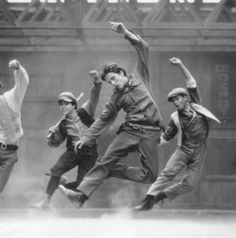 Christian Bale in Newsies (1992), choreography by Kenny Ortega. Bale was a ballet dancer and a junior associate of the Royal Ballet School in his younger years. He was very talented and had the potential to be great. He turned down a place at the lower school to do 'The Empire of the Sun'