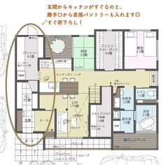 Narrow House, Apartment Plans, Japanese House, House Layouts, My Dream Home, Home And Living, Interior Architecture, Home Goods, House Plans
