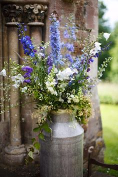 country flowers: delphiniums, white bells, foxgloves and wild flowers in blue and white. The Real Cut Flower Garden cut flowers grown outdoors on the Herefordshire borders and sent out within a day of being picked. We also run flower workshops to teach yo Growing Flowers, Love Flowers, Colorful Flowers, Wild Flowers, Planting Flowers, Beautiful Flowers, Tropical Flowers, Blue Bell Flowers, Seasonal Flowers