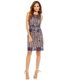 Gianni Bini Lace Overlay Sleeveless Kayla Dress