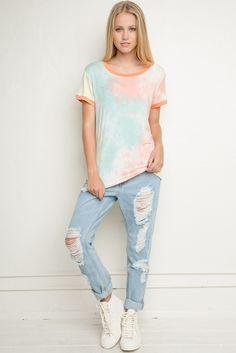 Brandy ♥ Melville | Marianne Tie-Dye Top - Clothing