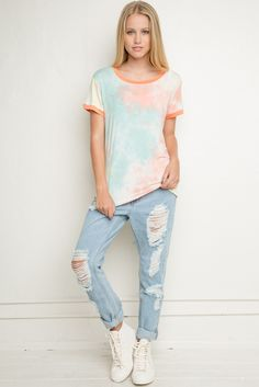Brandy ♥ Melville | Marianne Tie-Dye Top - Clothing