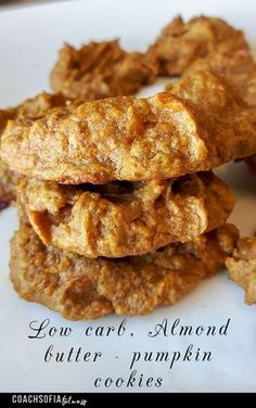 Low carb almond butter pumpkin cookies (Paleo, grain free, gluten free, Gaps) |low carb | cookies