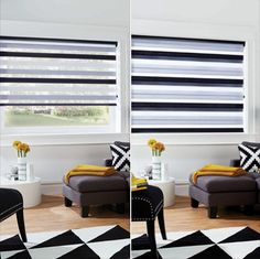 Take more control over the light you allow in your home. Brighten, dim or darken with vision blinds.