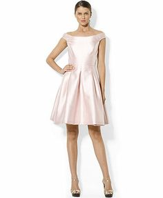 Lauren Ralph Lauren Cap-Sleeve Boat-Neck Satin Flare Dress  Anybody know where to find this other than Macy's?  They are out of my size