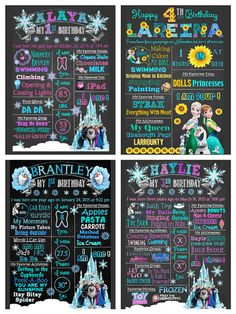 Welcome to Platinum Frugality Chalkboard Art!  Birthday - Frozen; Frozen Fever; Olaf theme (Customization available for any age - see