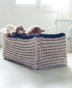 ¿Te animas a hacer una cesta para peluches con trapillo?