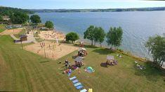 la plage des vernhes au bord du lac de Pareloup #Lévézou #aveyronemotion ©Gilles-Guillot-Clip-Clap-prod