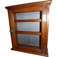 Antique Wood and Tin Medicine Cabinet / Barbershop Cabinet: Removed Old Medicine Cabinets, Bathroom Medicine Cabinet, How To Antique Wood, Barbershop, Master Bath, Tin, Antiques, Barber Shop, Antiquities