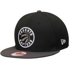 Men s Toronto Raptors New Era Black Graphite 9FIFTY GCP Classic Logo  Snapback Adjustable Hat Graphite 7f0fcf222c5