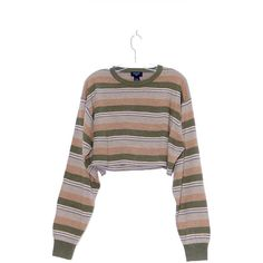 90s STRIPED CROP TOP 90s grunge kurt Cobain nirvana cropped sweater... (88 CAD) ❤ liked on Polyvore featuring tops, shirts, oversized white shirts, boxy crop tops, crop tops, knit crop top and striped top