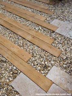 Wood Pavers could be explored to achieve a more coastal vibe.