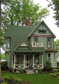 1000 Images About Green Siding On Pinterest Victorian