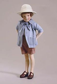 """RJW Dolls presents - Single Christopher Robin.  11"""", felt, jointed at neck and shoulders. Date of Release: 1998-1999. Ltd. Ed. 3500"""