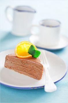 Торт из блинов с шоколадно-апельсиновым кремом