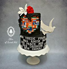Hope Love & Peace - Cakes Against Violence by Slice of Sweet Art