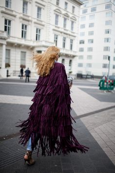 Fringe in motion at LFW [Photo: Kuba Dabrowski]