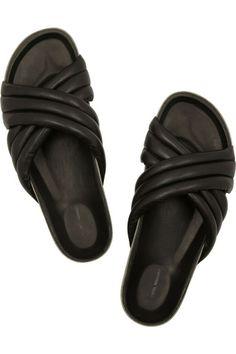 1c0f8f2f2df Isabel Marant Holden leather slides ❤ liked on.
