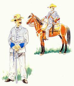 Lanceros de Numancia 1895-98 Cuba - Teniente y cabo de diario