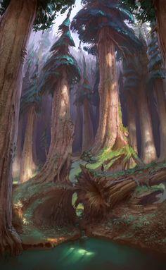 ArtStation - Highlands forest, Sam Nielson