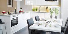 Aamu. Yksinkertainen on tehokasta. SelkeälinjainenAamu jättää tilaa kotisi ja keittiösi sisustuselementeille ja yksityiskohdille.