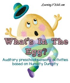 We loved this Humpty Dumpty Auditory Preschool Sensory Activities for our auditory sensory play! All we needed were a few things that we had around the house- an easy kid activity for sure
