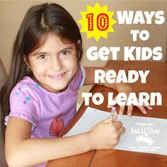 Mom to 2 Posh Lil Divas: 10 Ways to Help Kids Get Ready to Learn