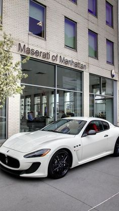 I'm not a huge fan of Maserati but the Gran Turismo is a nice looking car Bugatti, Maserati Car, Ferrari 458, Maserati Granturismo, Maserati Alfieri, Sexy Cars, Hot Cars, Rolls Royce, Mazda
