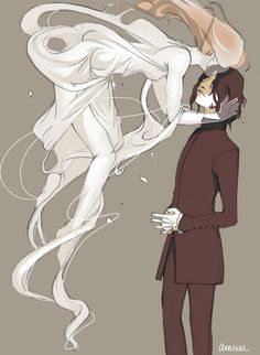 """Was it enough? (Lily x Snape) artwork by arriku. I like to post Snape and Lily stuff, not because I ship them, but because Lily is the main reason for Snape's existance in the books. But I don't """"ship"""" them, because if they were together, Harry Potter wouldn't exist....."""