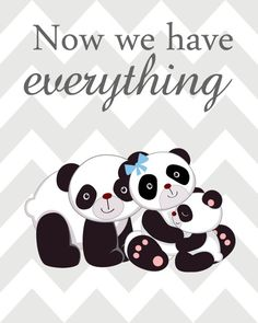 Nursery Art Trio, Panda Nursery Prints, Blue and Grey Nursery, Panda Nursery, Set of 3 First w Nursery Signs, Baby Nursery Decor, Nursery Prints, Nursery Art, Panda Themed Party, Panda Party, Cute Panda Wallpaper, Animal Wallpaper, Panda Nursery