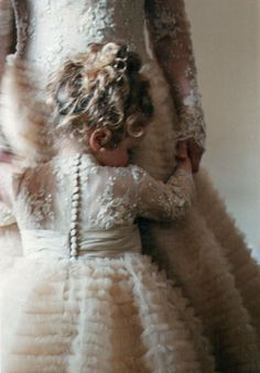 Angela Marcuccio's beautiful couture I love how the flower girls dress matches the brides!