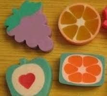 standard once i discovered the girly world: collecting scented fruit shaped eraser- was a short experience though.back to being a tomboy! 1980s Childhood, My Childhood Memories, Sweet Memories, Retro Toys, Vintage Toys, Smelly Pencils, Eraser Collection, 80 Tv Shows, Right In The Childhood