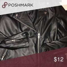 Faux Leather Biker Jacket Gently used and a great piece to add edge to any outfit. Forever 21 Jackets & Coats