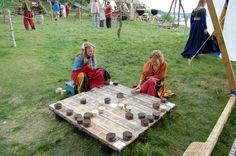 Huge Hnetafafl set (a Viking age game). Cool for camp.