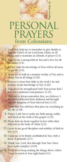 Examples of how to express your personal needs in the words of Scripture. Follow Paul's example in prayer.<br /><br />Encourage the church to pray, help those who are new in faith develop their prayer life, and revitalize ministries with large prayer cards! Prayer card guides provide biblically based areas of prayer for specific needs or groups of people. Printed on both the front and back sides, they give numerous precise topics of prayer supported with Scripture re...