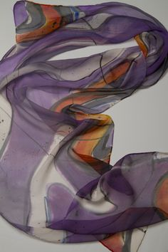 hand painted silk scarves, made in the USA!