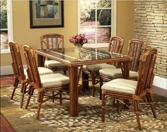 Bayview Rectangle Dining Set by Classic Rattan