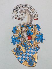 Heraldic ist Andrew Stewart Jamieson Paintings - Rendition of a Scotish Coat of Arms by Andrew Stewart Jamieson