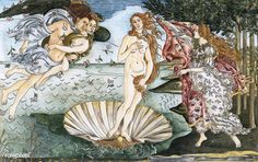 The Birth of Venus (1483-1485) by Sandro Botticelli adult coloring page | free image by rawpixel.com The Birth Of Venus, Free Adult Coloring Pages, John James Audubon, Mode Shop, Free Illustrations, Famous Artists, Sandro, Cool Artwork, Royalty Free Images