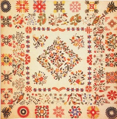 Album Quilt, 1851. Made by Mary B. Brown for Israel Reynolds. Cecil Co, Maryland.