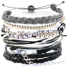 Domo Beads Bracelet Set   Shades Of Gray