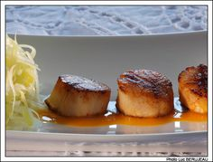 recette gastronomique : Noix de Saint-Jacques rôties au beurre d'orange